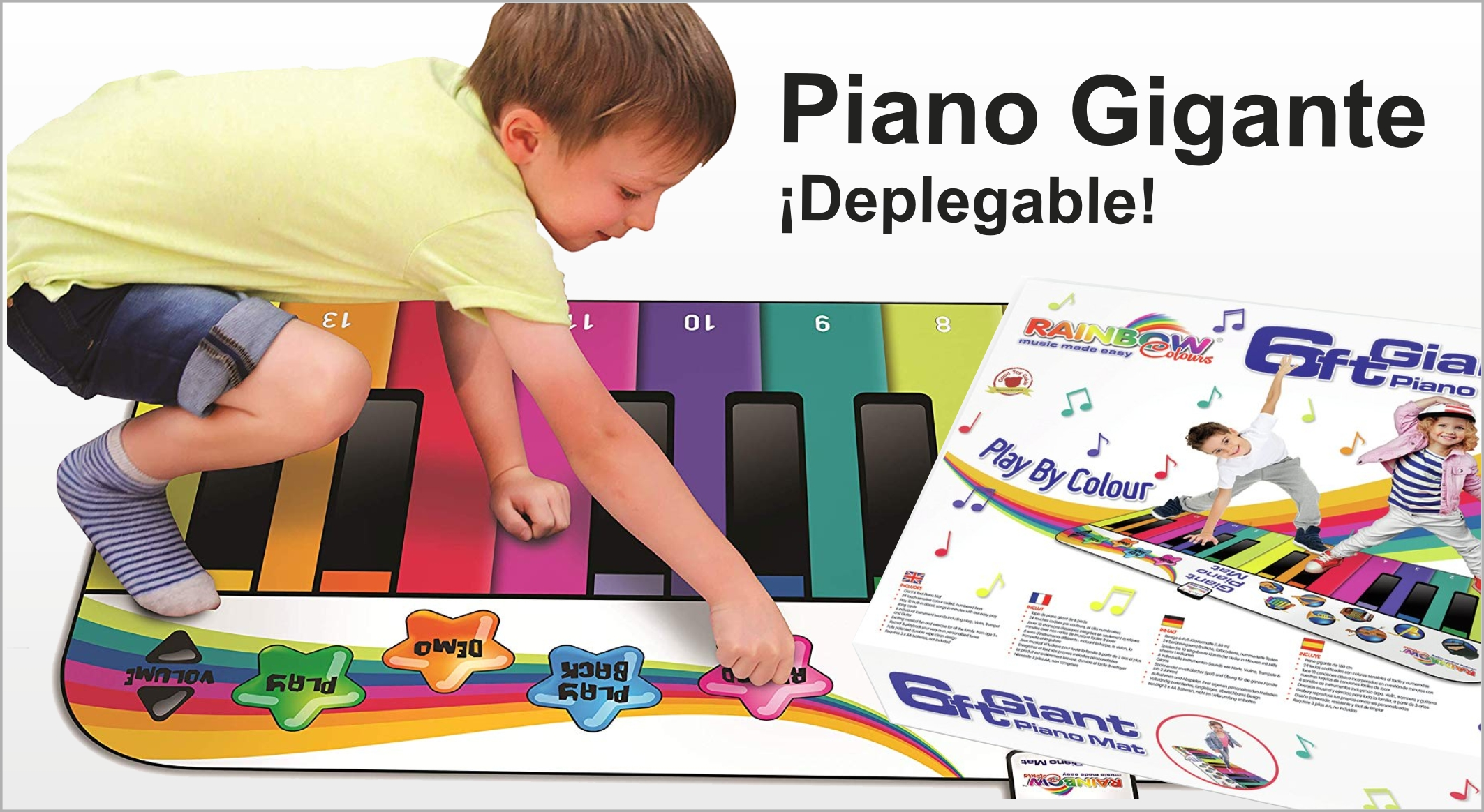 Piano gigante desplegable